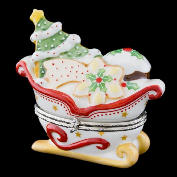 Winter Bakery Decoration Dose Schlitten