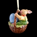 Bunny Family Ornament Korb mit Hasenjunge